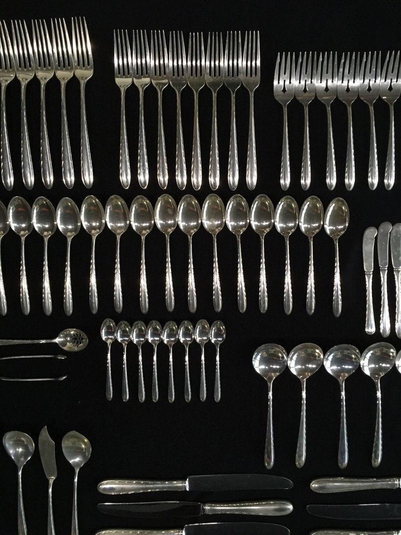 94 Pcs. Towle Silver Flutes Sterling Silver Flatware - 5