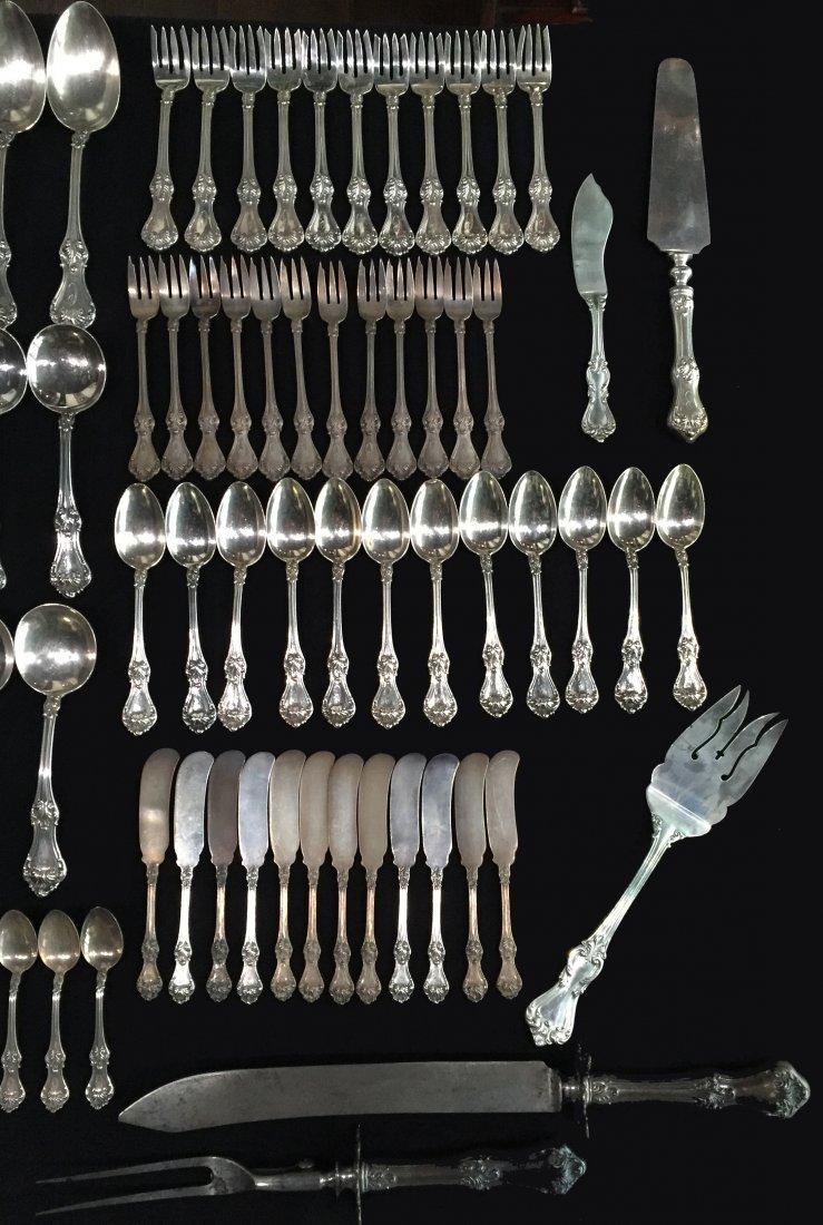 119 Pcs. Roger Williams Corinthian Pattern Sterling - 7