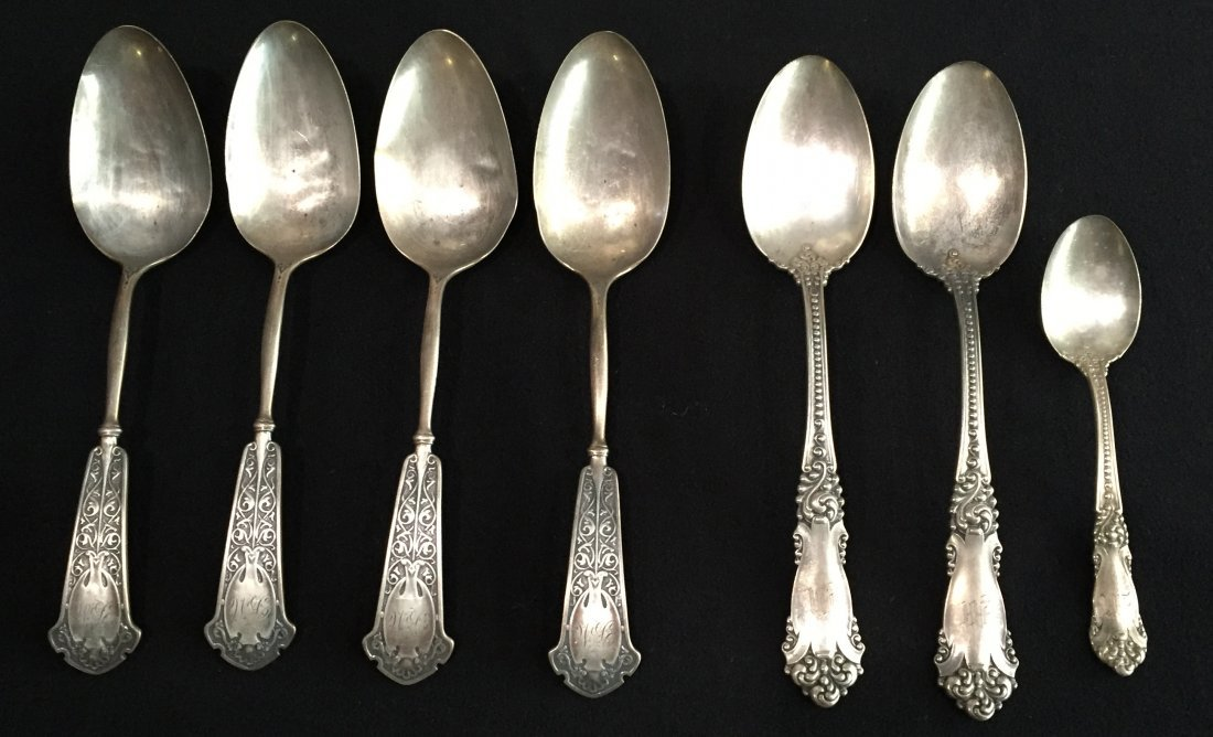 (7) Sterling Serving and Tea Spoons