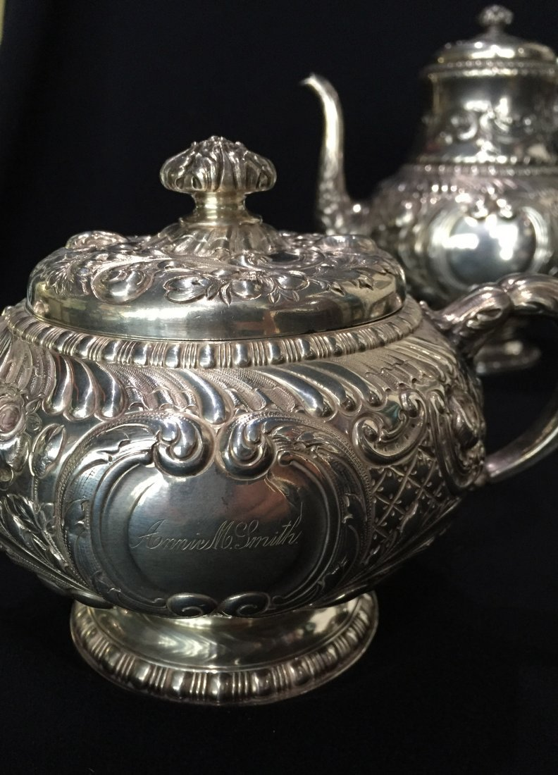 (3pc) Gorham Sterling Tea Set - 2