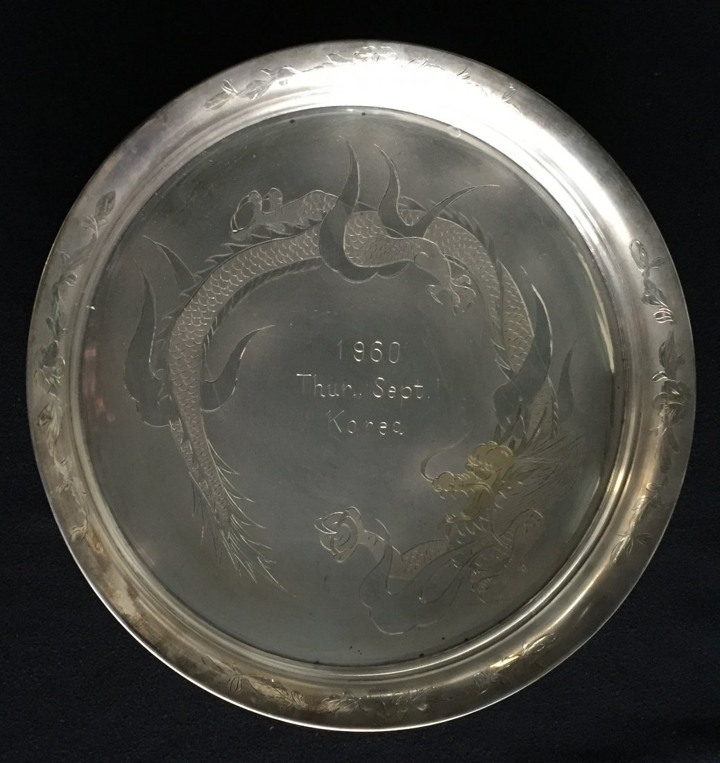 Silver Plated Presentation Plate