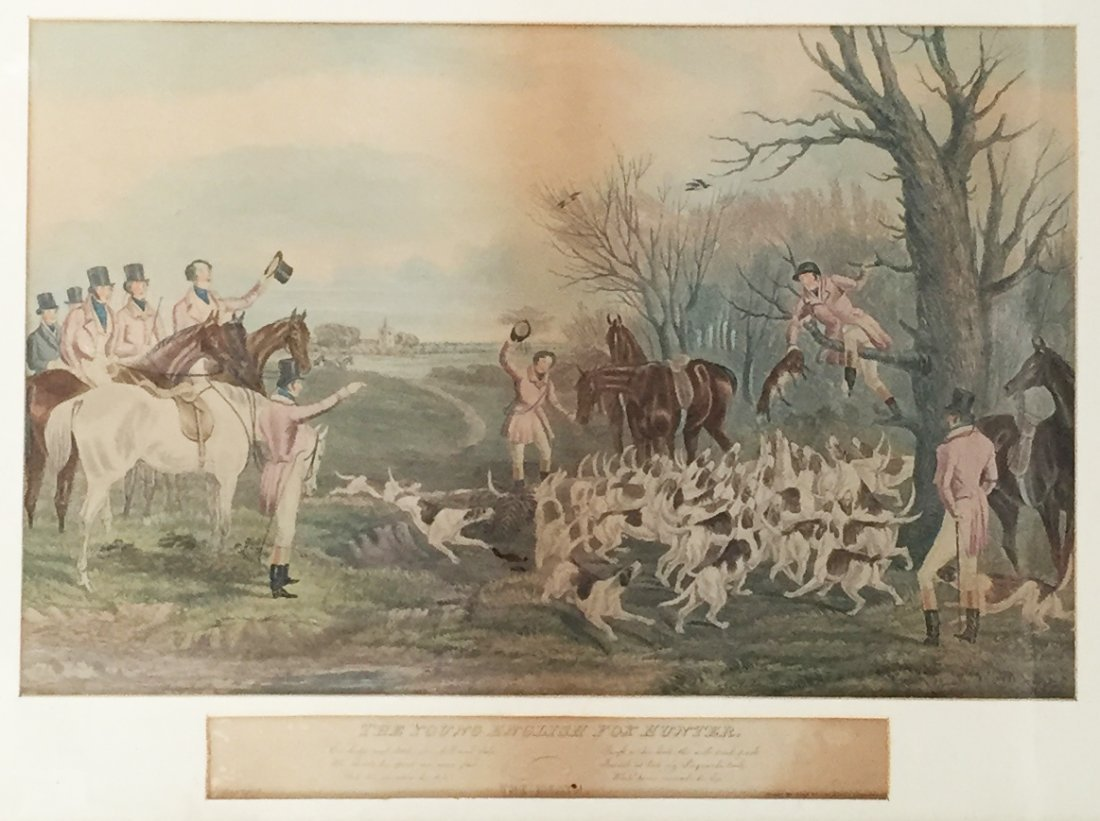 The Young English Fox Hunter Lithograph