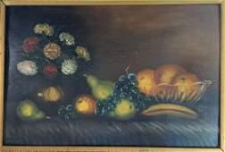 19th Century German Still Life Oil Painting
