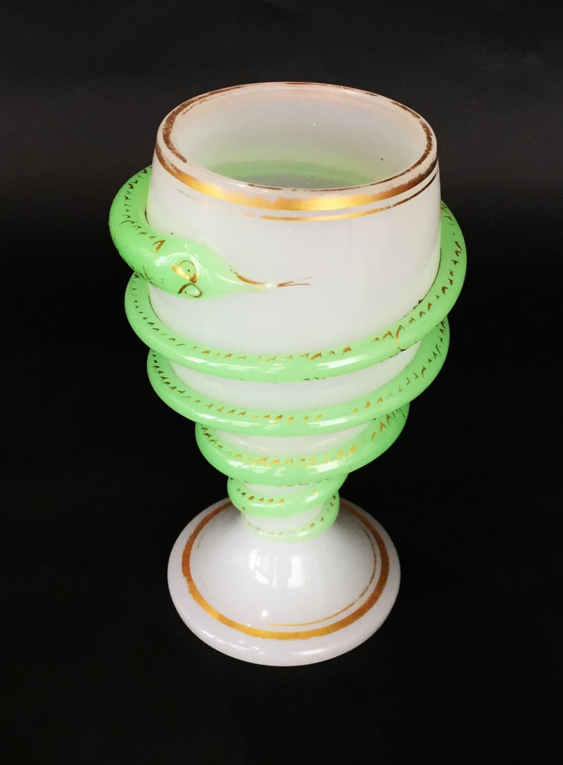Venetian Glass Snake Wrapped Chalice