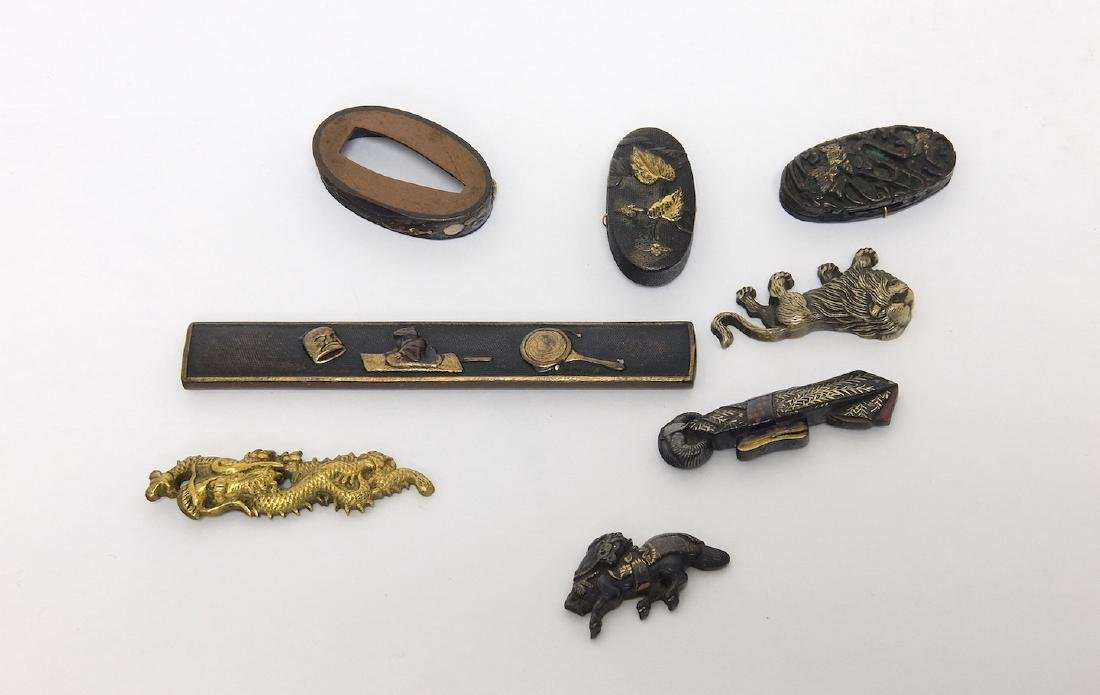 Gourp of Japanese Bronze Objects