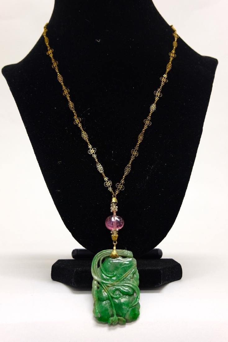 Chinese Jadeite Necklace - 3