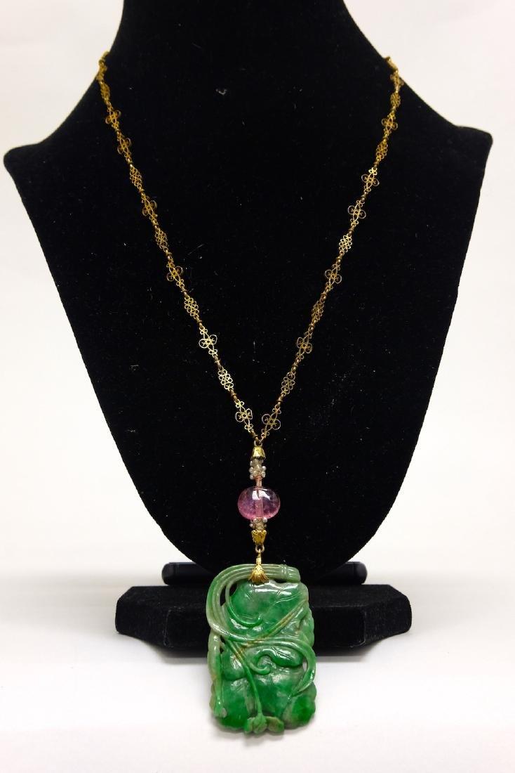 Chinese Jadeite Necklace - 3