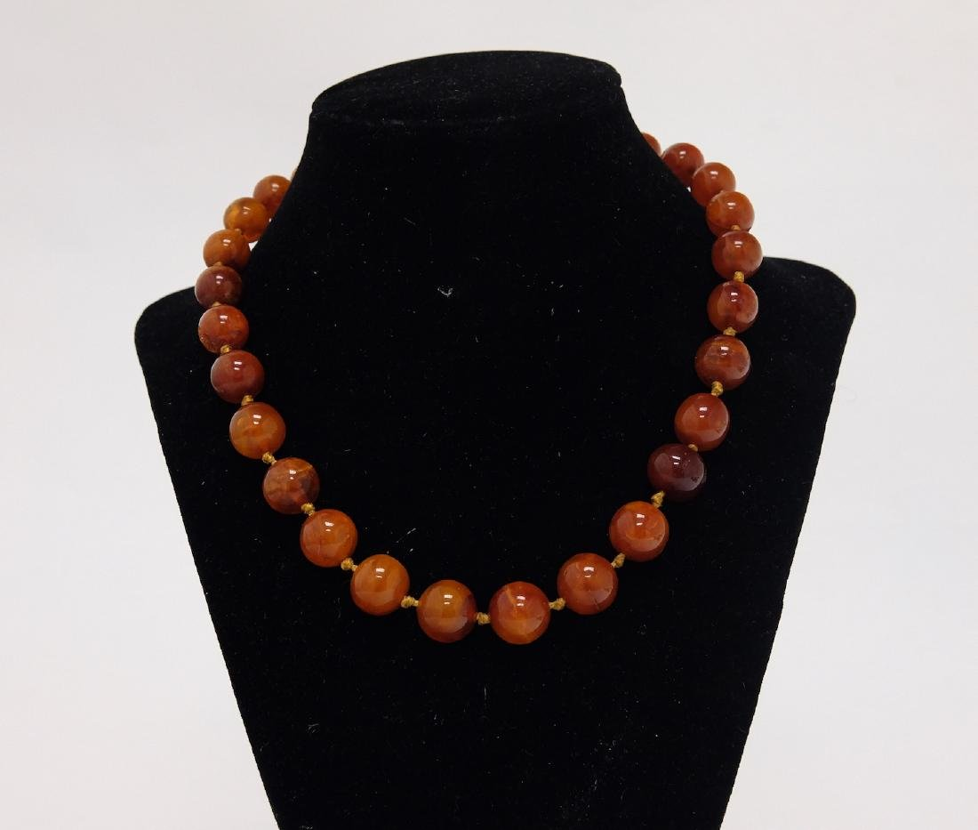 Chinese Amber Necklace 1