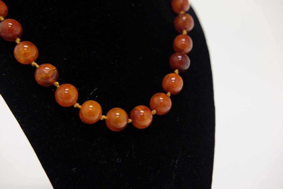 Chinese Amber Necklace 1 - 2