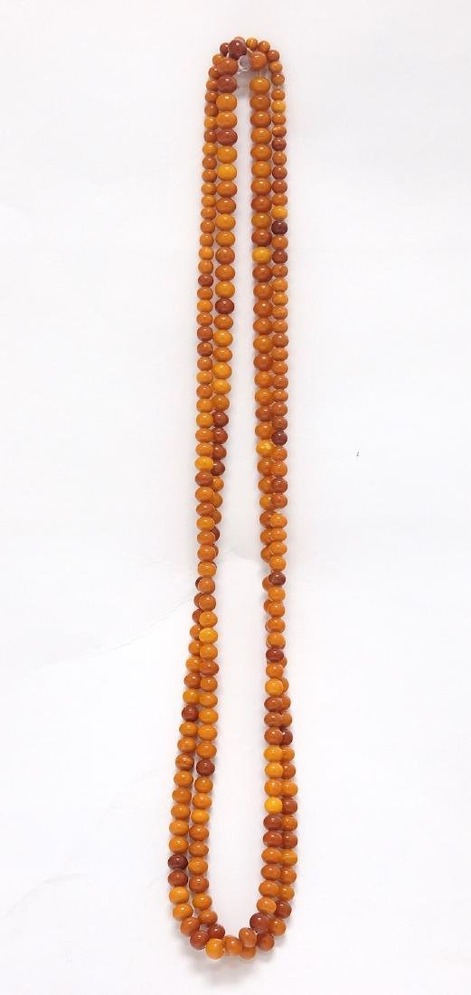 Chinse Extra long Amber Necklace 2