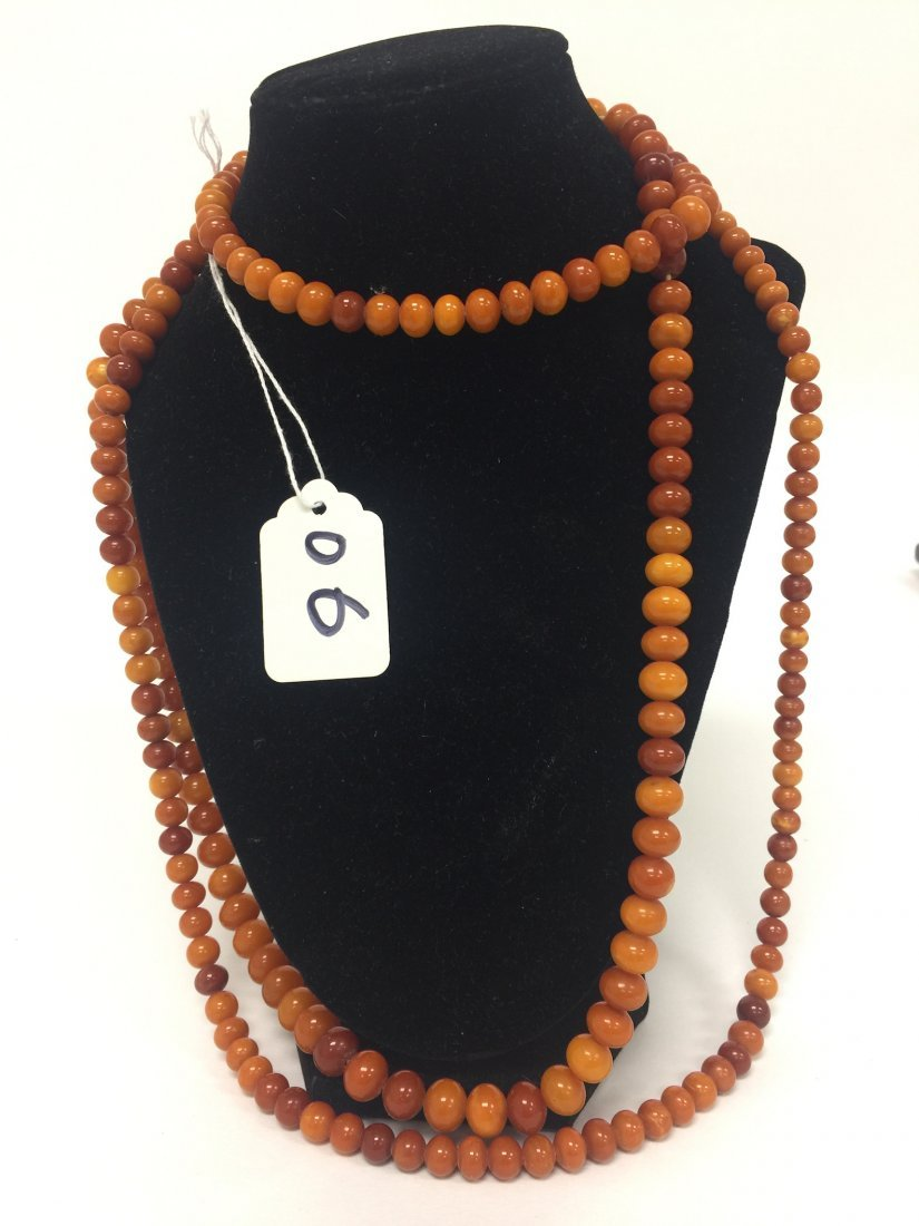 Chinse Extra long Amber Necklace 2 - 3