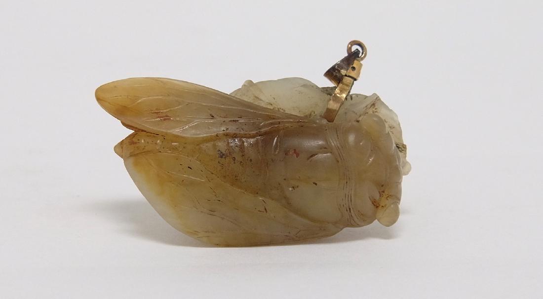 Chinese Jade Cicada Pendant - 2