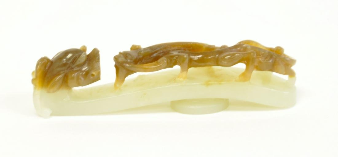 Chinese White Jade Buckle