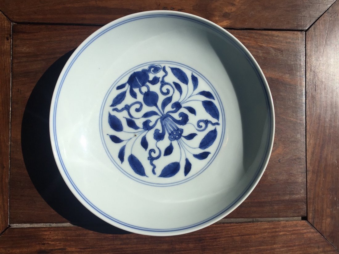 Chinese Blue-white Plate - 3