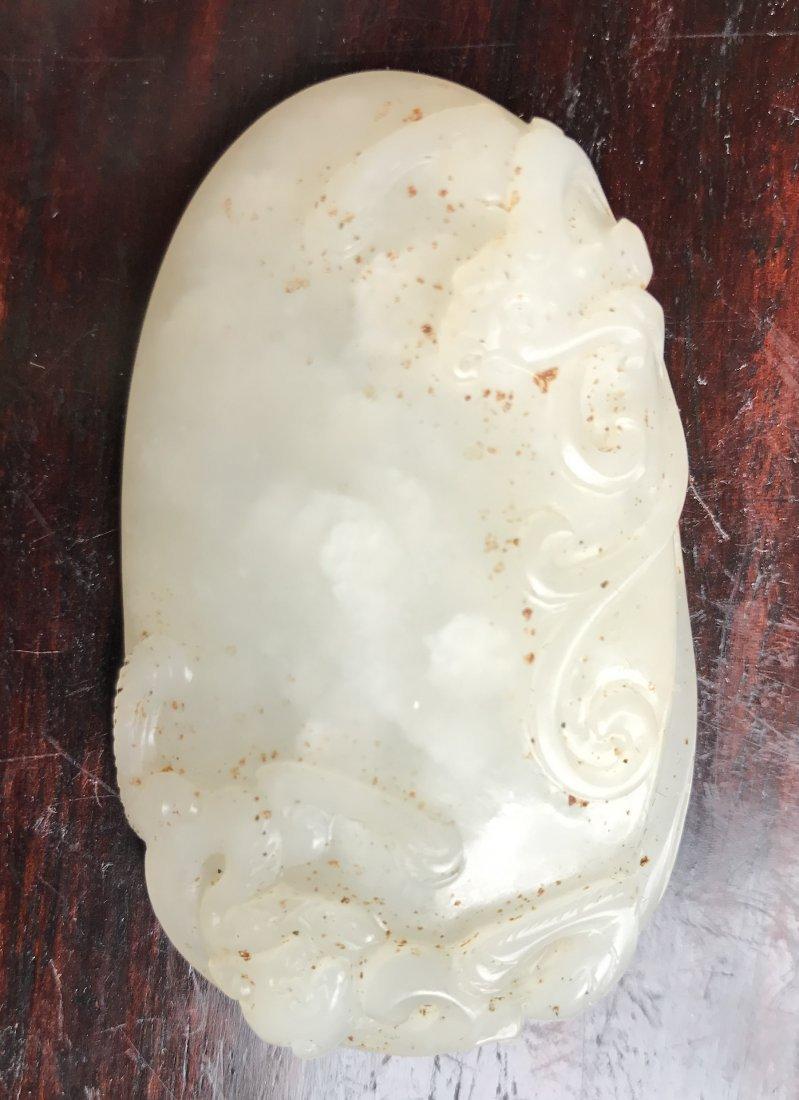 Chinese White Jade Pendant by Zi Gang - 6