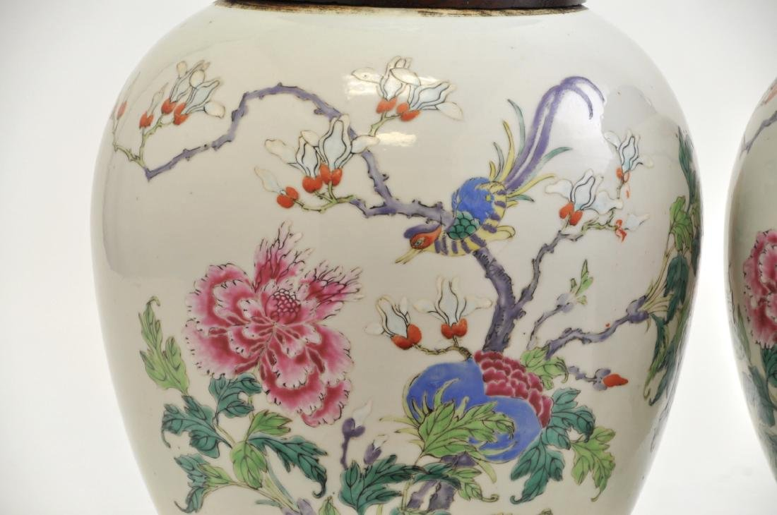 Chinese Pair of Famille Rose Jars - 2