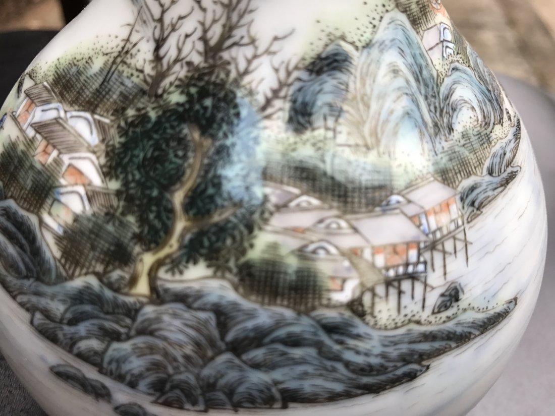 Chinese Famille Noire Bottle Vase - 10