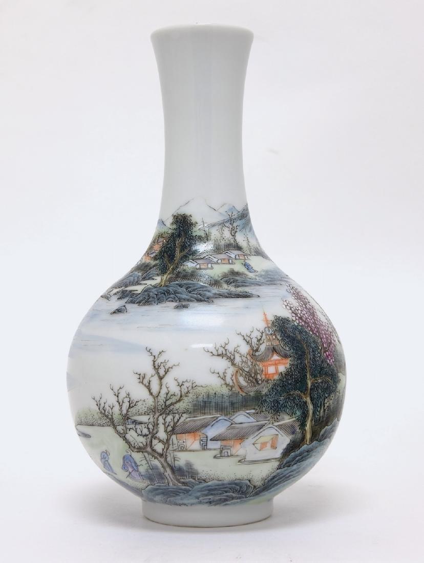 Chinese Famille Noire Bottle Vase