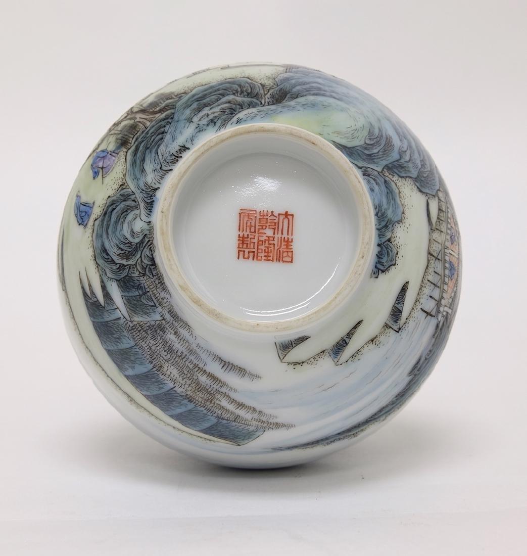 Chinese Famille Noire Bottle Vase - 4
