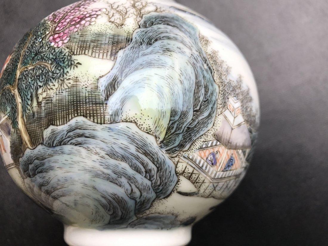 Chinese Famille Noire Bottle Vase - 5