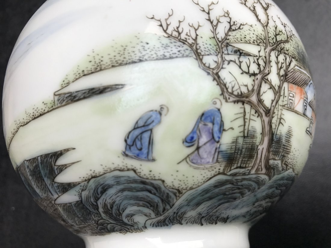 Chinese Famille Noire Bottle Vase - 8