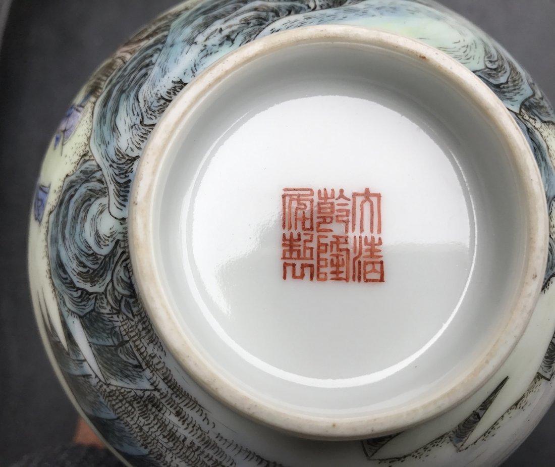 Chinese Famille Noire Bottle Vase - 9