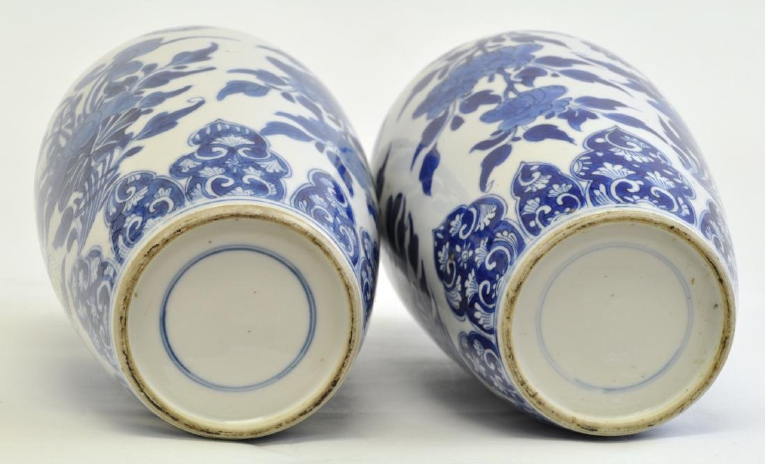 Chinese Pair of Blue-white Lidded Jar - 4