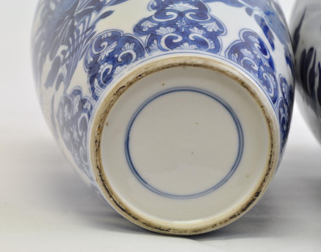 Chinese Pair of Blue-white Lidded Jar - 6
