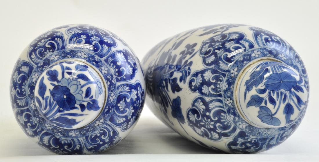 Chinese Pair of Blue-white Lidded Jar - 7