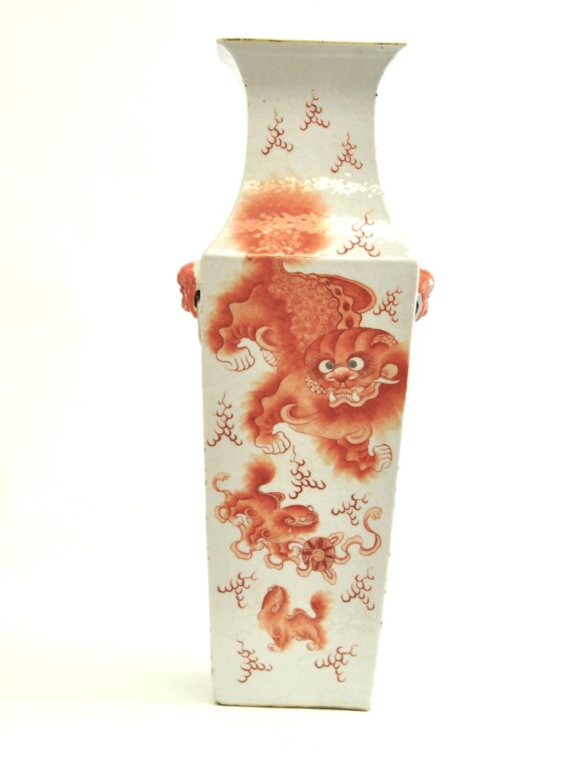 Chinese Large Famille Noire Square Vase - 3