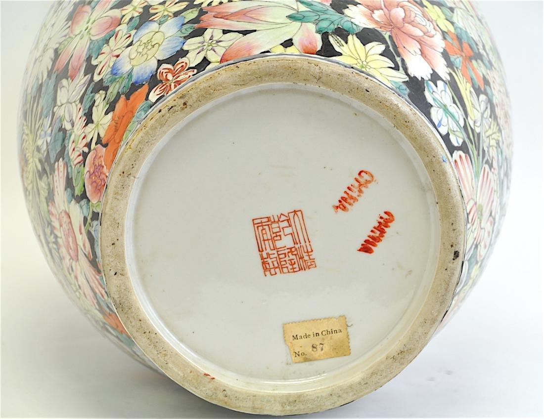 Chinese Large Famille Rose Vase - 7