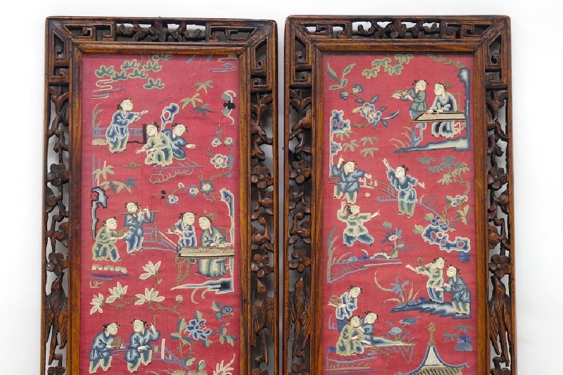 Chinese Pair of Framed Kesi - 2