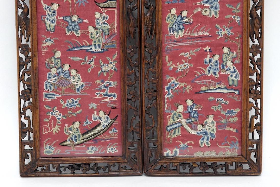 Chinese Pair of Framed Kesi - 4