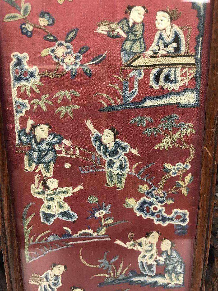 Chinese Pair of Framed Kesi - 7