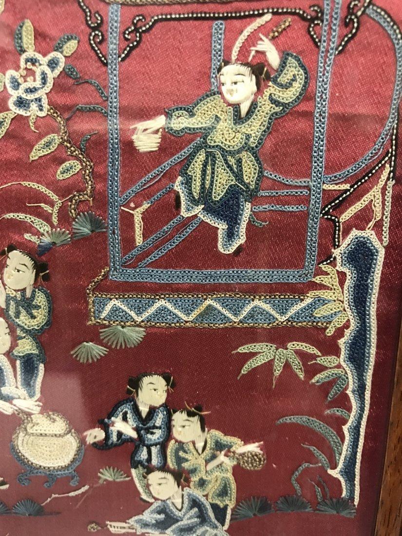 Chinese Pair of Framed Kesi - 8