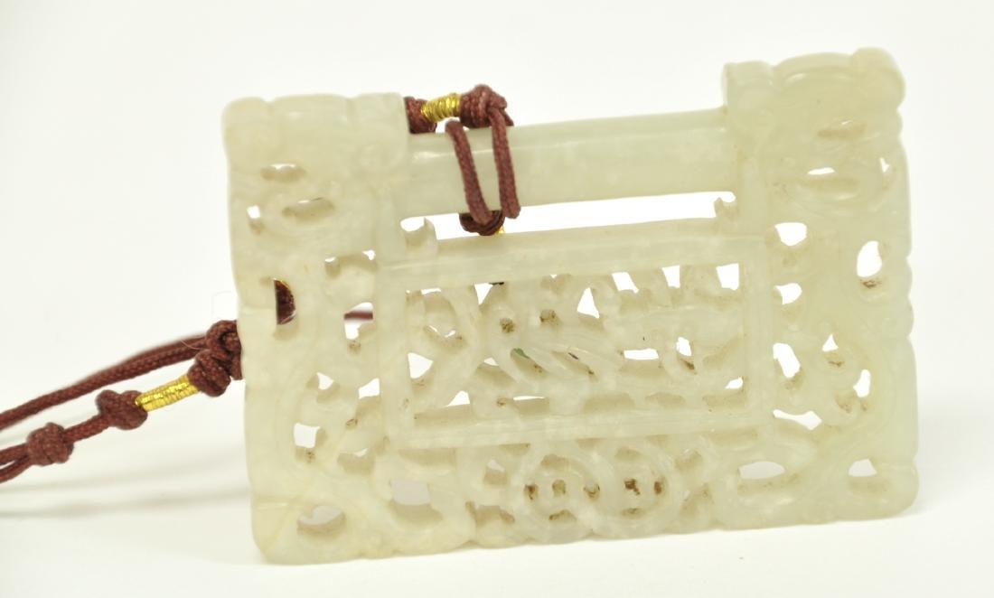 Chinese White Jade Lock - 3