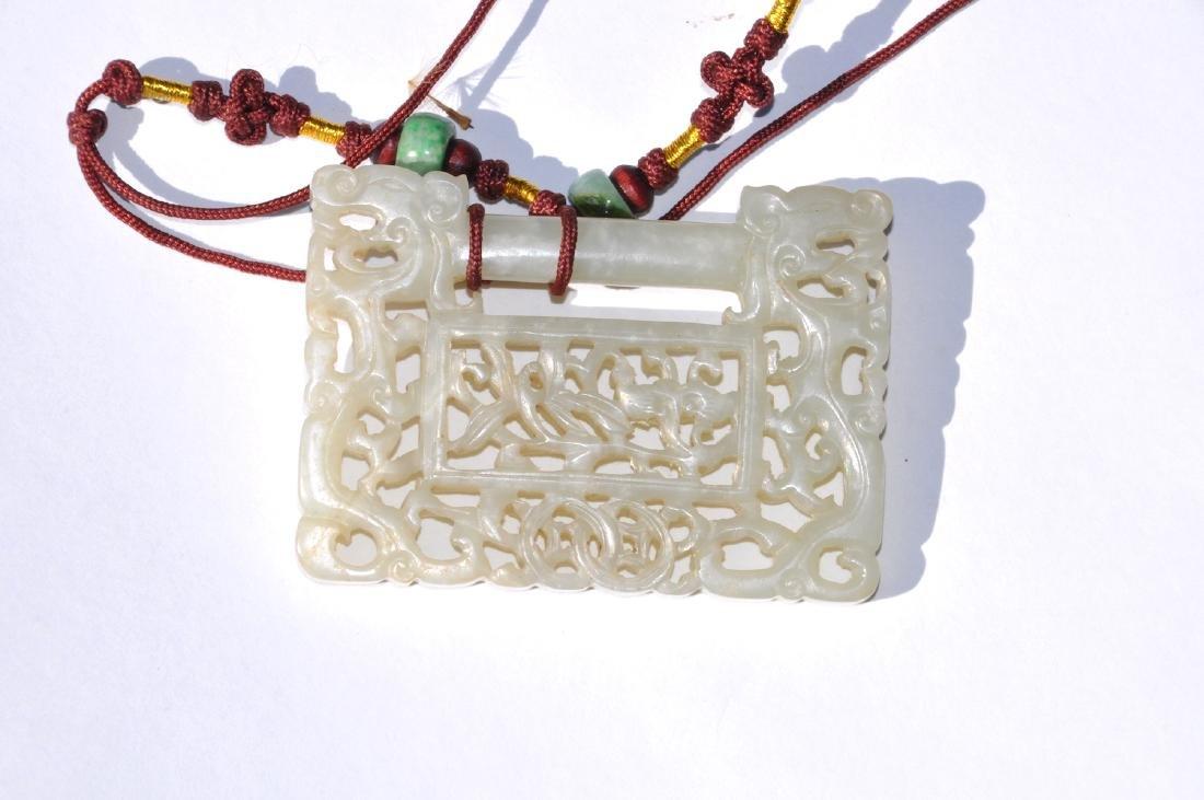 Chinese White Jade Lock - 4