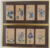Chinese Pair Framed Export Paintings