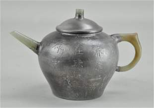 Chinese Pewter Yi Xing Tea Pot