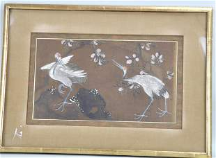 Chinese Framed Silk Painting
