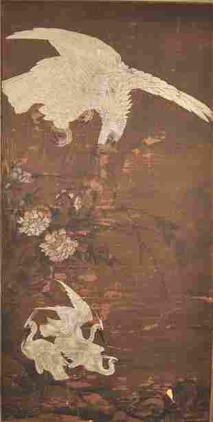 Chinese Silk Painting Framed 3