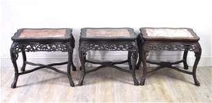 Chinese Three Rosewood Tea Tables