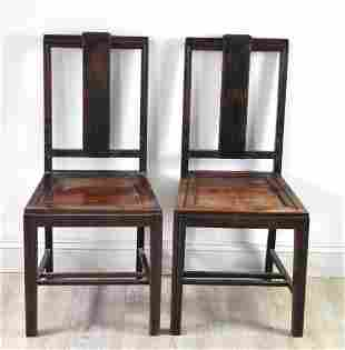 Chinese Pair Rosewood Rosewood Chairs 1