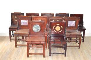 Chinese Eleven 11 Rosewood Chairs