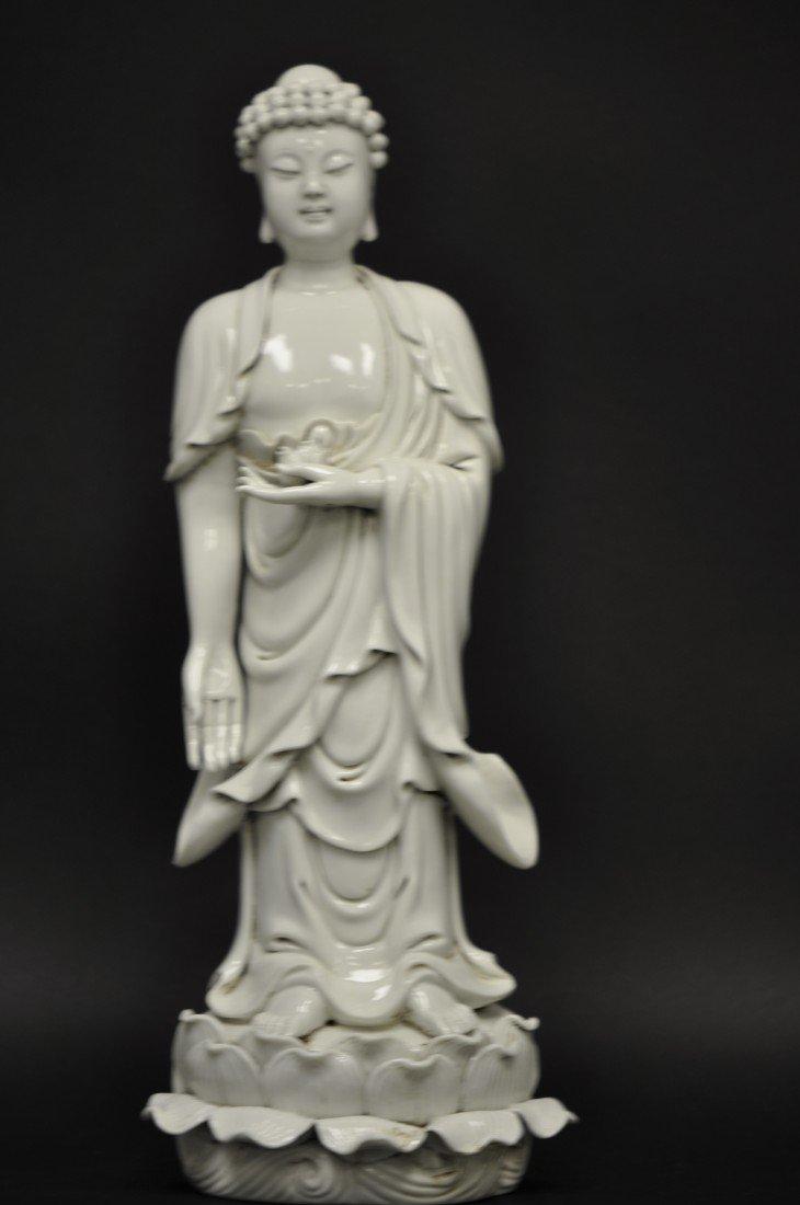 5: A Chinese Blanc-de-chine Standing Buddha