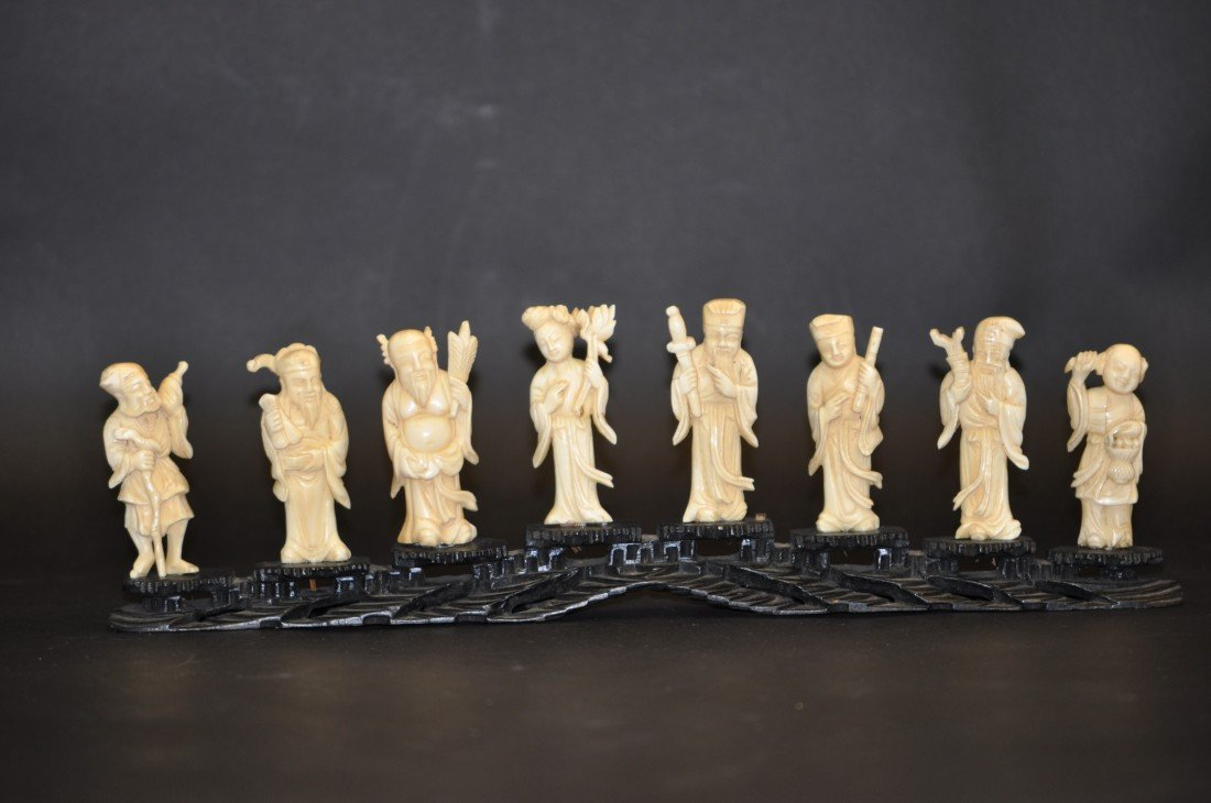 13: A Carved Ivory Eight Immortals