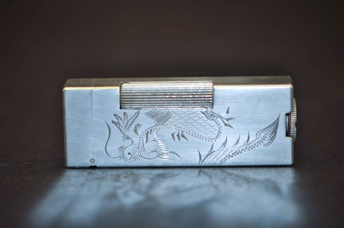15: A Chinese Vintage Silver Lighter