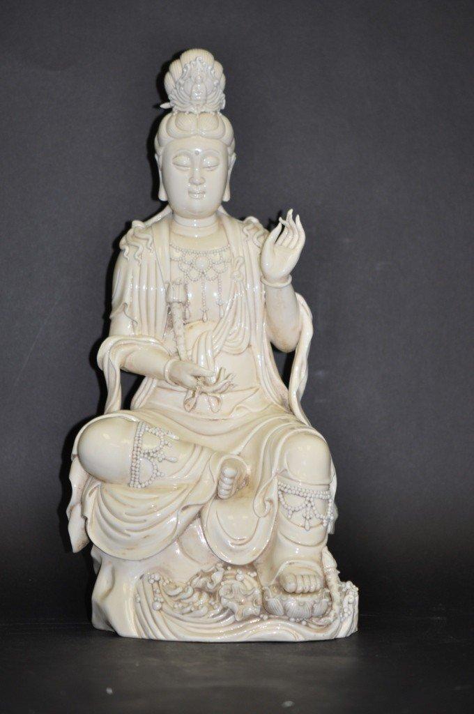 24: A Chinese Blanc-de-Chine Sitting Kwan-Yin