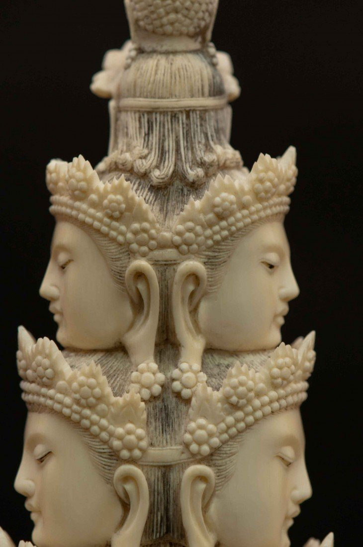 50: A Large Carved Chinese Ivory Thousand-hand Buddha - 9