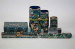 144: A Set of Chinese Cloisonné Scholar's Treasure